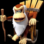 Cranky Kong from Donkey Kong Country Returns